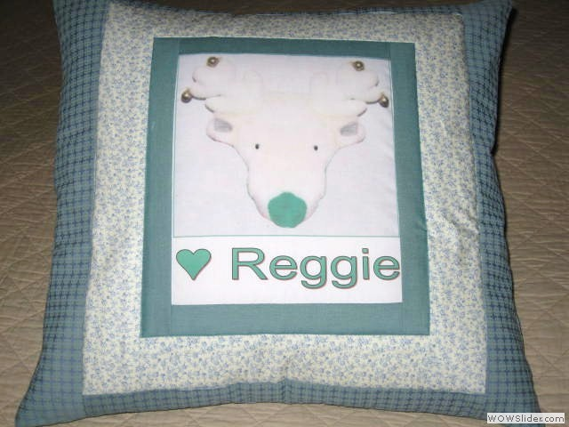 Pillow Reggie for Vicki01