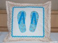 Pillow FlipFlops-Blue